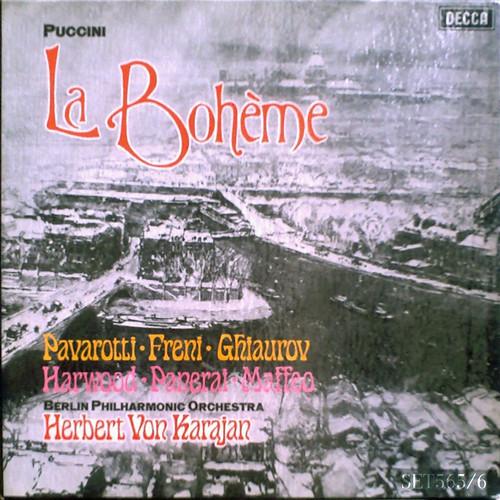 アマデウスクラシックス通販レコードの案内 - プッチーニ:歌劇《ラ・ボエーム》全曲 フレーニ、パヴァロッティ、カラヤン指揮ベルリン・フィル