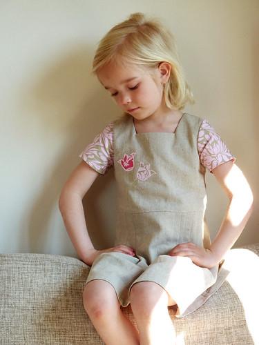 Ronja wearing her Tulip dress