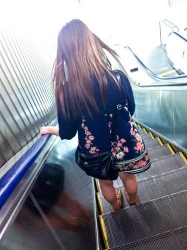 With her at Shinjuku Station