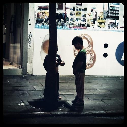 Boys being boys, Tel Aviv