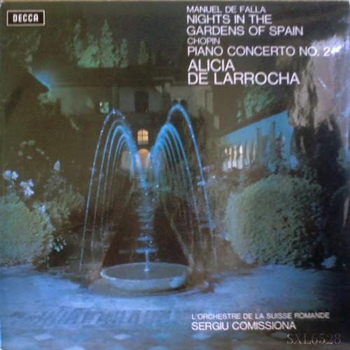 アマデウスクラシックス通販レコードの案内 - ファリャ:スペインの庭の夜、ショパン:ピアノ協奏曲No.2 デ・ラローチャ(ピアノ)、コミッシォーナ指揮スイス・ロマンド管