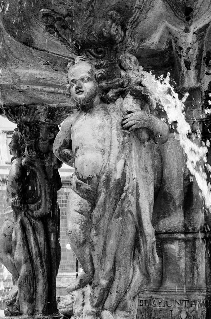 Close up fountain in Puebla, Mexico