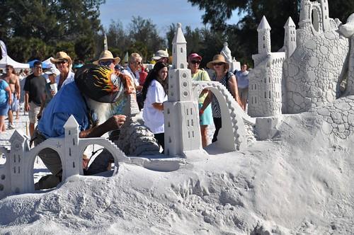 Siesta Key Crystal Classic Master Sandsculpting Competition, Nov. 20, 2010: Sand Sculptor Walter McDonald