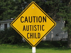 Caution Autistic Child