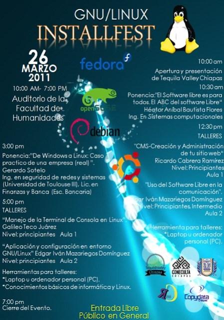 Flyer del evento del Install Fest