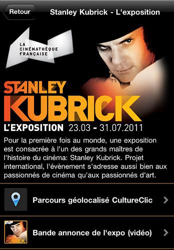 CultureClic 1.4.2 : Exposition Stanley Kubrick,