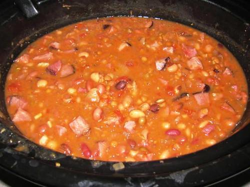 Slowcooker Ham & 16 Bean Soup