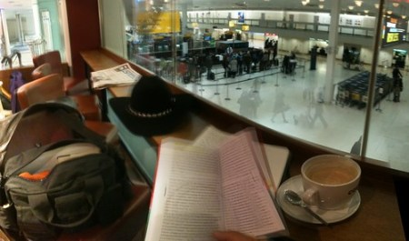 Reading at the airport