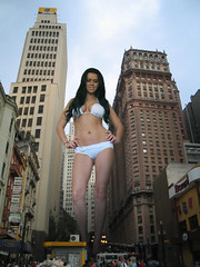 nude giantess collage