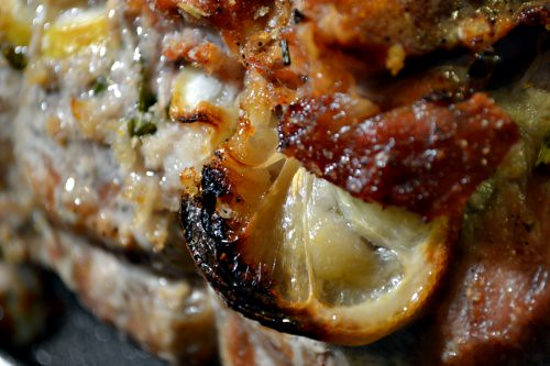 Lemon-Prosciutto Stuffed Pork Roast