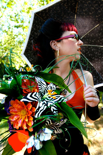 Duct tape flower bouquet by Valoree Kaye