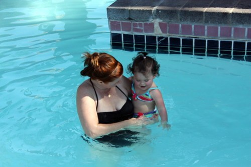 water fun with mommy and annie