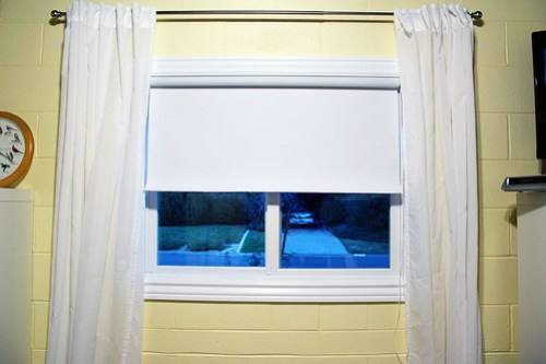 Installing ikea tupplur window blinds our concrete home for Ikea tupplur window roller shades