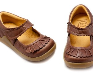 livie and luca ruche brown toddler shoe