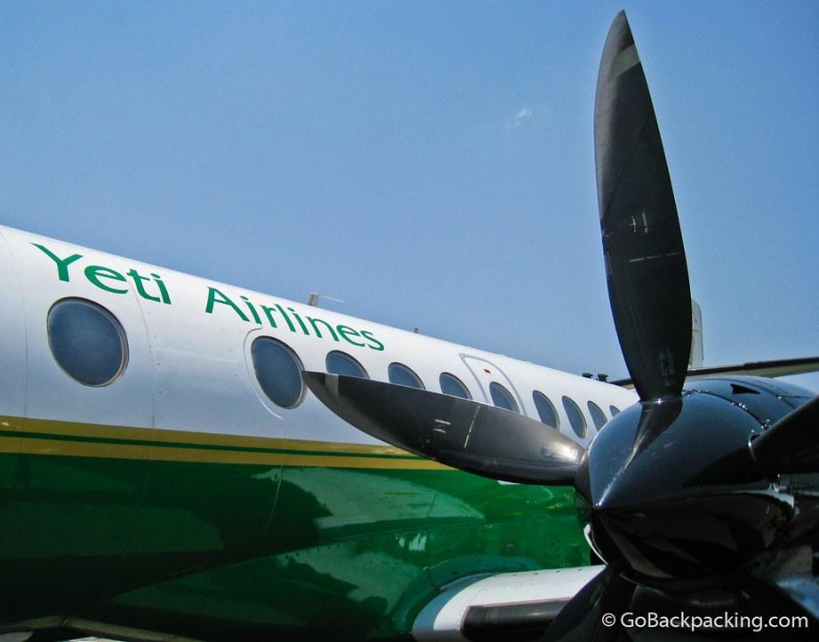 Yeti Airlines airplane