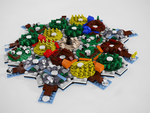 Lego Settlers of Catan Board WIP