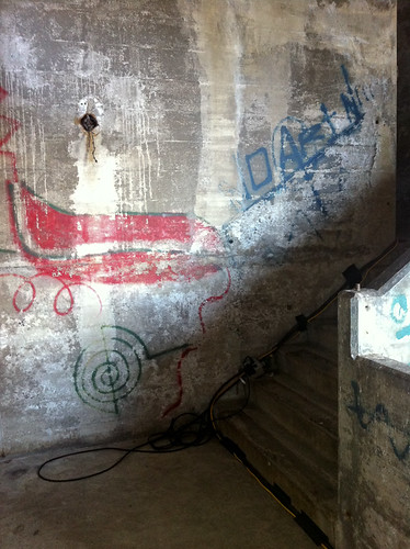 Secret Stairway under Burrard Bridge - old graffiti