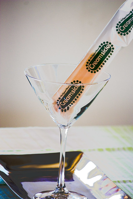 Creamsicle in a Martini Glass