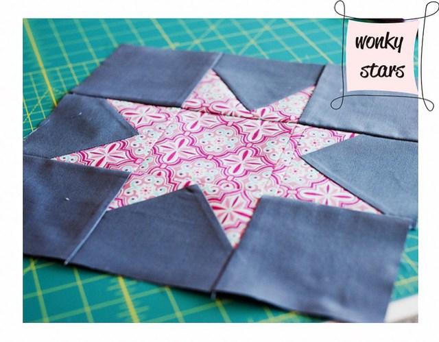 WIP:: Wonky Stars Quilt