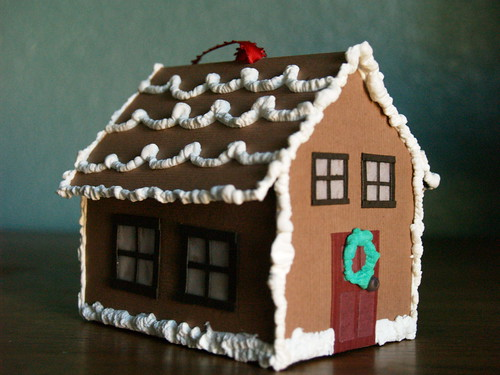 paper gingerbread house Using the tim holtz snowglobe die build a 3d version using kraft paper cut your die using kraft paper to mimic the gingerbread to assemble look for my previous guide.