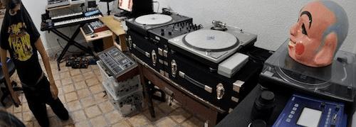 dj ghostdad in the studio