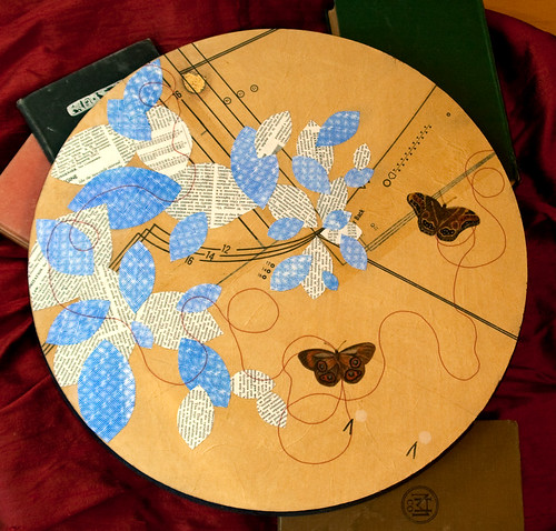 butterfly and sewing paper