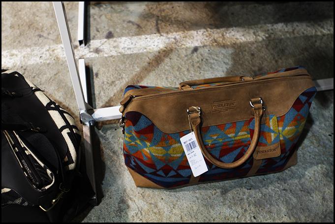 Tuukka at Mens Fashion Week, Paris - Pendleton Woolen Mills Bag, Capsule
