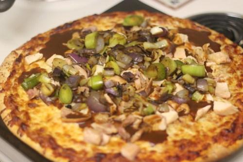 BBQ Chicken Pizza w/ leeks