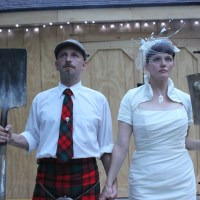 Kilted grooms rockin' them tartans, and one NSFW cake topper