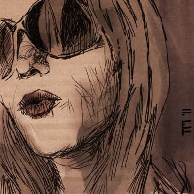 Sketch, Girl With Sunglasses