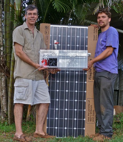 Cole and Jerry holding final Chill Box.
