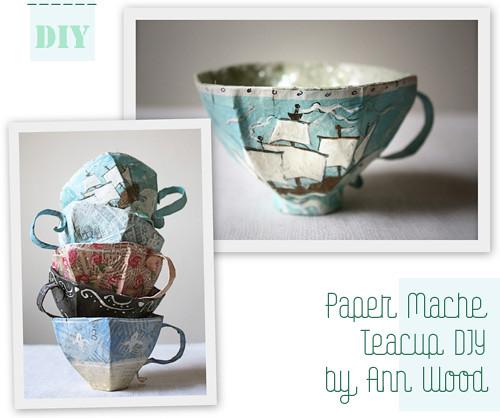 DIY Paper Mache Teacup by Ann Wood