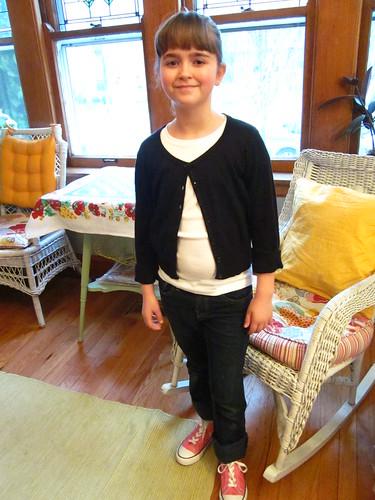 Sophia getting ready for the school play