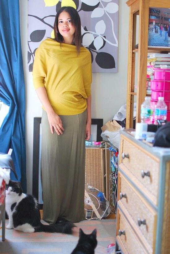anthropologie sweater maxi skirt
