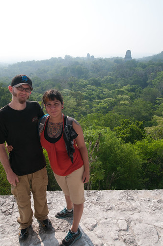 Shaun and Erica at Tikal
