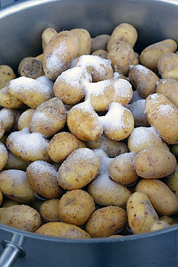 salted potatoes