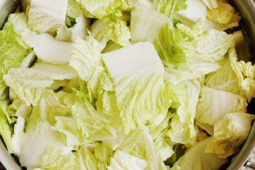 chopped napa cabbage