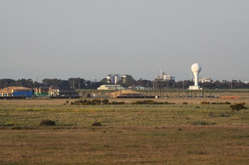 Houses at Williams Landing covering the remains of the former airfield