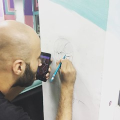 Another wall being tagged!