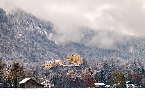 Hochenschwangau Castle in the snow