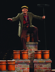 Robert Creighton (Bert) in Mary Poppins, produced by Music Circus at the Wells Fargo Pavilion July 8 - 13, 2014. Photos by Charr Crail.
