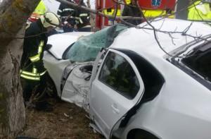 Mașină răsturnată pe DN 1, în zona Timiș