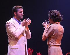 (L to R) John Cudia (Emile de Becque) and Beth Malone (Ensign Nellie Forbush) in South Pacific, produced by Music Circus at the Wells Fargo Pavilion July 22-27, 2014. Photos by Charr Crail.