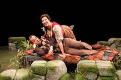 Briga(L to R) Jason Graae (Jeff Douglas) and Tory Ross (Meg Brockie) in Brigadoon, produced by Music Circus at the Wells Fargo Pavilion August 5-10, 2014. Photos by Charr Crail.doon7