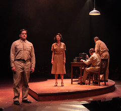 (L to R) Michael Stevenson, Beth Malone, John B. Williford in South Pacific, produced by Music Circus at the Wells Fargo Pavilion July 22-27, 2014. Photos by Charr Crail.