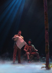 (L to R) Robert J. Townsend (Tommy Albright) and Jason Graae (Jeff Douglas) in Brigadoon, produced by Music Circus at the Wells Fargo Pavilion August 5-10, 2014. Photos by Charr Crail.