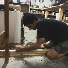 @samir1603 making a drum sander for the Guitar making workshop:)