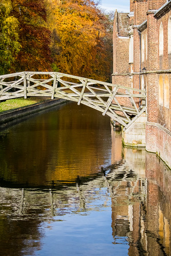 Reflection of the Mathematical Bridge at Queens' College