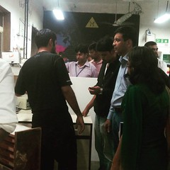 A group of start-up founders who are part of IIT's SINE incubation programme came down to check our space out!
