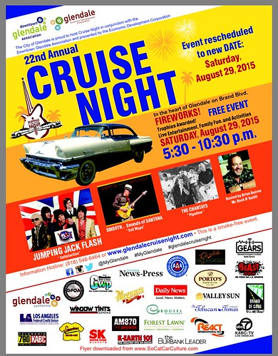 "GLENDALE CA USA - ""22nd Annual Cruise Night"" August 29 Saturday - 5:30pm to 10:30pm - FIREWORKS ,  live entertainment, family fun and activities- limited to 450 cars - credit: www.SoCalCarCulture.com • <a style=""font-size:0.8em;"" href=""http://www.flickr.com/photos/134158884@N03/20737355729/"" target=""_blank"">View on Flickr</a>"